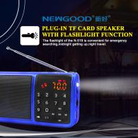 Wholesale mini LED flashlight and Dual TF cards bass music player with EQ effect enjoyment effect from china suppliers