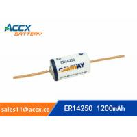 Wholesale ER14250 with tabs, axis, 3.6V 1200mAh lithium thionyl chloride battery from china suppliers