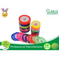 Quality Custom Colorful Sticky BOPP Stationery Tape Water based For Office Sealing for sale