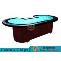 China Baccarat Standard Casino Poker Table / 80 Inch Large Poker TableFor 9 Players on sale