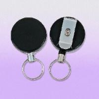 Wholesale Heavy-duty Clip-on Badge Reels with 60cm Long Pull Metal Wire, Customized Logos are Welcome from china suppliers