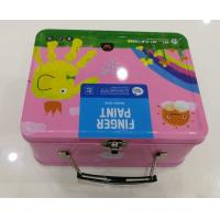China Metal Tin Custom Packaging Boxes Cmyk / Pantone Color Candy Stylish With Clip Lid for sale