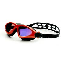Wholesale Fashionable Swimming Goggles Red Color , Waterproof Swim Goggles With UV Shield from china suppliers