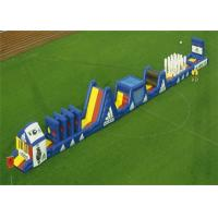 Wholesale Blue Long Inflatable Obstacle Course Combo For Outdoor Blow Up Games from china suppliers