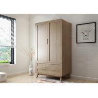 Wholesale Two Door Large Size Hotel Room Wardrobe Solid Wood Frame 1000 * 600 * 2100mm from china suppliers