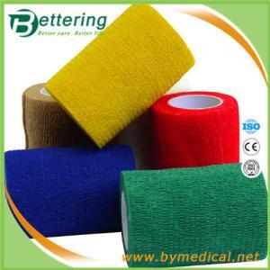 Buy cheap Latex Glue non woven compression bandage coflex bandage self adhesive bandage from wholesalers