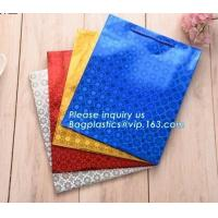 Buy cheap Luxury Art Paper Flower Carrier Bag with Rope Handle,Fashion kraft paper flower from wholesalers