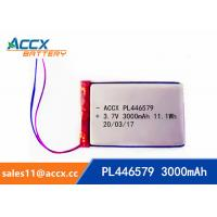 Wholesale pl446579 3.7V 3000mAh rechargeable lipo battery for DVD player, mobile phone 446579 li-ion polymer battery from china suppliers