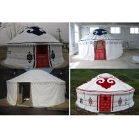 Wholesale Sunscreen Polyester Canvas Yurt Style Tent Warm For Travel Accommodation from china suppliers
