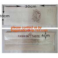 Wholesale OEM High Quality Enviromental Clear Window Bread Toast Paper Bags, Brown Kraft Sharp Bottom Food Safe Snack Paper Bags w from china suppliers