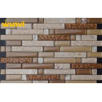Wholesale Custom 300 × 300mm Irregular Wavy Glass Mosaic Tile For Kitchen Room from china suppliers