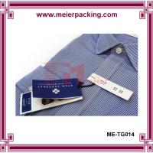 Wholesale men shirt paper hangtags low minimum, garment jeans hangtag ME-TG014 from china suppliers