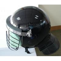 China full face compact resistant police anti riot helmet with metal visor for sale