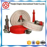 """Wholesale Manufacture White 4 1/2 Single Jacket lay flat Fire Fighter Hose With NST Brass Coupling 2"""" rubber lined fire hose from china suppliers"""