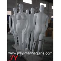 China jolly mannequin female plus size abstract head fiberglass mannequin JFT-1 on sale