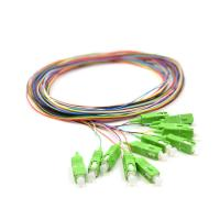 Wholesale 0.9mm Pigtail Single Mode , 1m SC APC Single Mode Pigtail 12 Core For FTTx Network from china suppliers