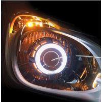 Wholesale IPHCAR Led Headlight CCFL Angel Eye 2.5 inch Double Angel Eye Hid bi xenon Projector Lens from china suppliers