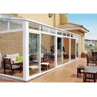 Wholesale Portable White Aluminium Frame Greenhouse With Tempered Glass House Roof from china suppliers