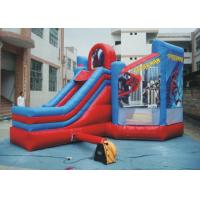 Quality PVC Spiderman Jumping Castle / Inflatable Spiderman Bouncy Castle For Garden for sale