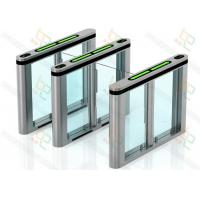 Quality 304 Stainless Steel Automatic Turnstiles Glass Wing Swing Gates for sale