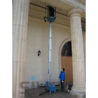 Quality 630 * 650mm Platform One Man Lift 6 Meter Platform Height For Aerial Work for sale