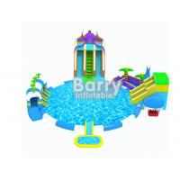 Wholesale Commercial Grade Kids Octopus Inflatable Water Parks , Inflatable Slide Park For Fun from china suppliers