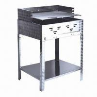 Wholesale Stainless Steel Barbecue Charcoal BBQ Grill, Measuring 622 x 508 x 250mm from china suppliers