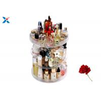 Wholesale 360 Degree Rotating Acrylic Cosmetic Makeup Box Storage Organizer Color Customized from china suppliers