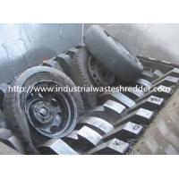 China Double Shaft Waste Tire Shredder , Industrial Truck Tire Shredding Machine on sale