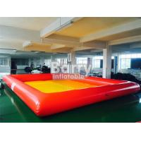 Quality Orange / Yellow Pvc Floating Inflatable Boat Swimming Kids Portable Swimming Pools for sale