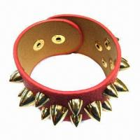 Wholesale Coralito PU Leather Bracelet in Punk Style from china suppliers