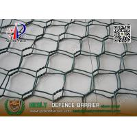 Wholesale Green Color PVC coated Wire gabion mesh boxes   80X100mm hexagonal hole from china suppliers