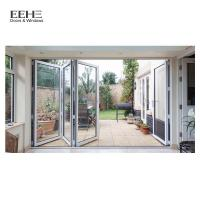 Wholesale High Strength Red Aluminium Folding Doors For Commercial Buildings 5mm Thickness from china suppliers