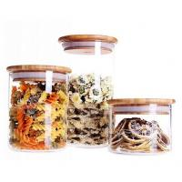 Wholesale storage jar with bamboo lid natural bamboo cover for glass container from china suppliers