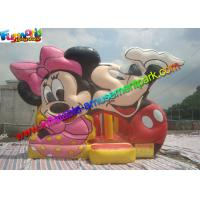 China Mickey Mouse Commercial Bouncy Castles ,  Inflatable Bounce House With PVC tarpaulin on sale