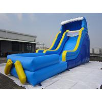Buy cheap Giant Outdoor Yellow Inflatable Water slide With Pool / Commercial Water Park from wholesalers