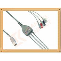 Quality Mennen ECG Patient Cable 10 Pin 3 Leads Grabber AHA Gray Color for sale