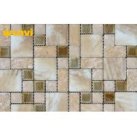 Wholesale Eco - Friendly Mix Color Glossy Bathroom Mosaic Tiles For Floor Decoration from china suppliers