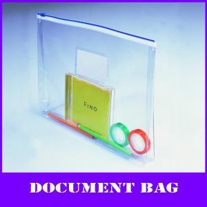 China clear a4 pvc zipper documents bag on sale