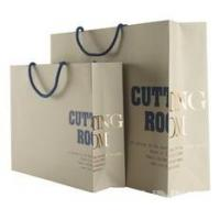 Promotional Reusable Colorful Rope Handle Paper Carrier Bags With Logo Printed for sale