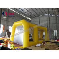 China Pvc Tarpaulin Inflatable Paint Booth , Yellow Color Portable Spray Booth For Cars on sale