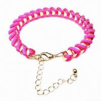 Wholesale Fashion Handmade Knitted Bracelet with Lobster Claw Clasp from china suppliers
