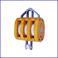 China B044 Regular Wood Block Triple Sheave Without Shackle, US Type for sale