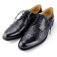 Buy cheap High quality men black leather shoes.europe designer men shoes 2014 woven men from wholesalers