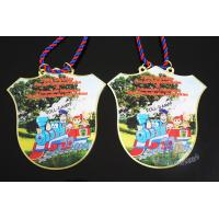 Buy cheap Custom Design Soft Enamel Medals With Cord , Printing Full Color Brass Material from wholesalers