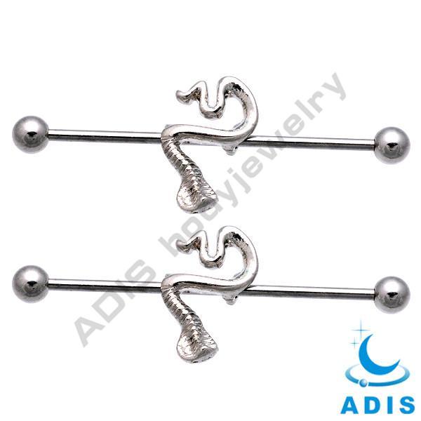 stainless steel earring industrial barbell piercing
