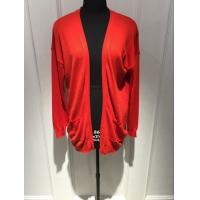Wholesale Anti Shrink Red Cardigan Sweater , Open Cardigan Sweater Womens from china suppliers