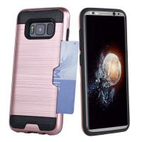 Buy cheap Dual Layer PC / TPU Bumper Credit Card Holder Protective Case For Samsung Galaxy S8 from Wholesalers