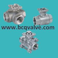 Wholesale 1/2/3PCS stainless steel FEMALE THREADED MOUNTING PAD BALL VALVE from china suppliers