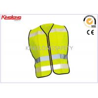 Wholesale Spring / Autumn Unisex Reflective Safety Vest S M L XL with Nylon / Brass Zipper from china suppliers